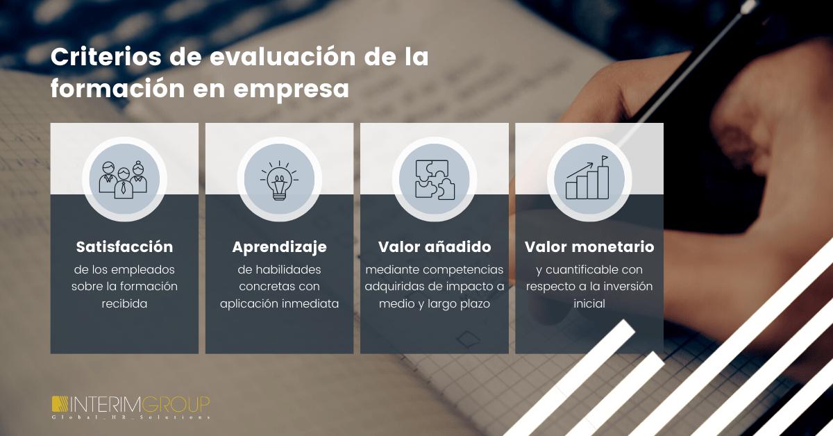 criterios de evaluación de la formación en empresas -INTERIM GROUP